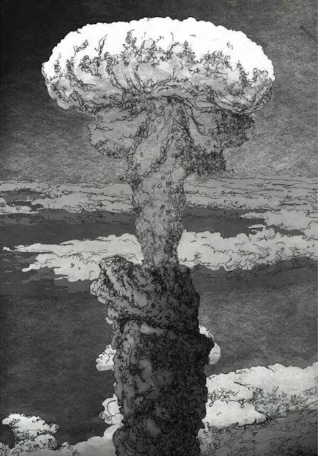 explosión nuclear, espectro