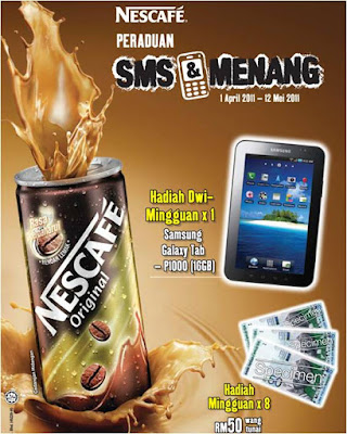 Peraduan 'SMS & Menang' Nescafe