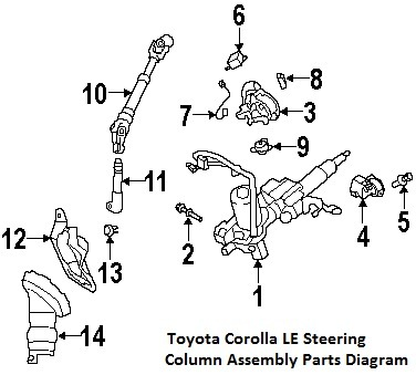 Part       Diagrams        Toyota       Corolla    2009 Steering Column    Diagrams