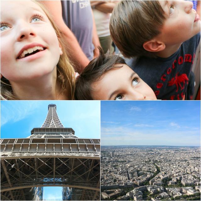 mit Kindern auf den Eiffelturm in Paris
