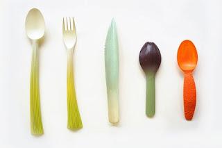 Cubiertos Biodegradables inspirados en Frutas y Verduras