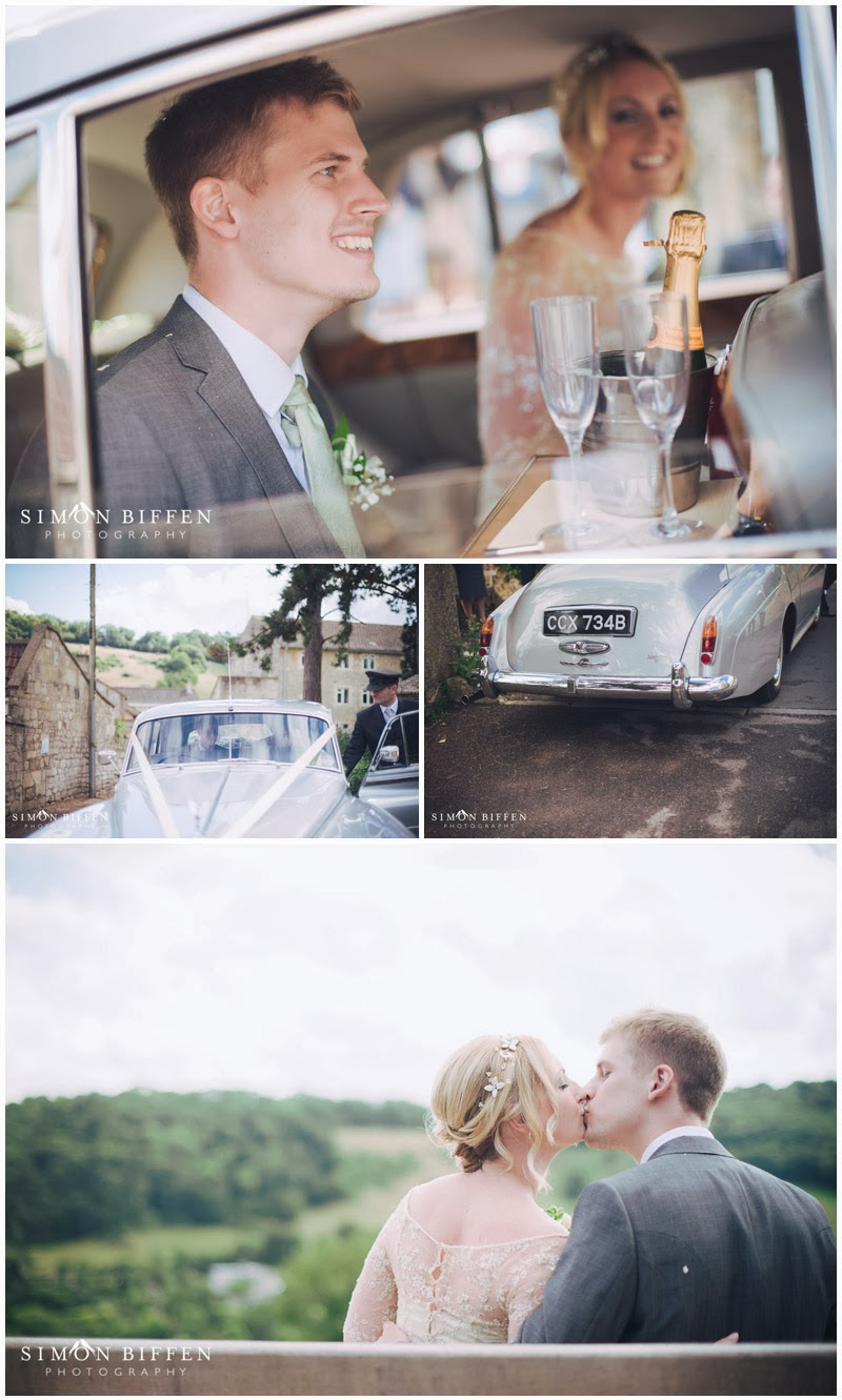 Departure of Bride and Groom at Monkton Combe church