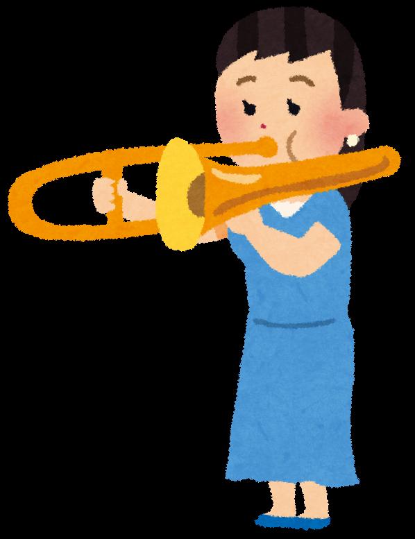 トロンボーンを吹く女性の ... : 4文字の動物 : すべての講義