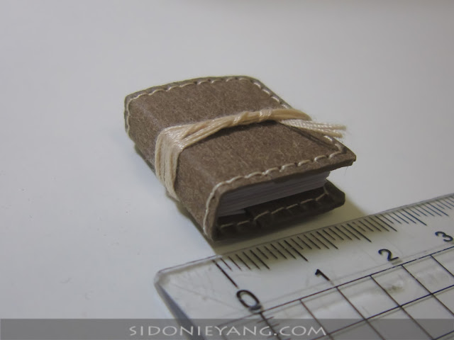 可水洗牛皮紙 手工迷你小書 Handmade Washable Kraft Paper Microbook