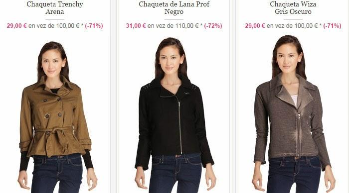 Tres modelos de chaquetas ¡nos encanta la de lana negra del centro!