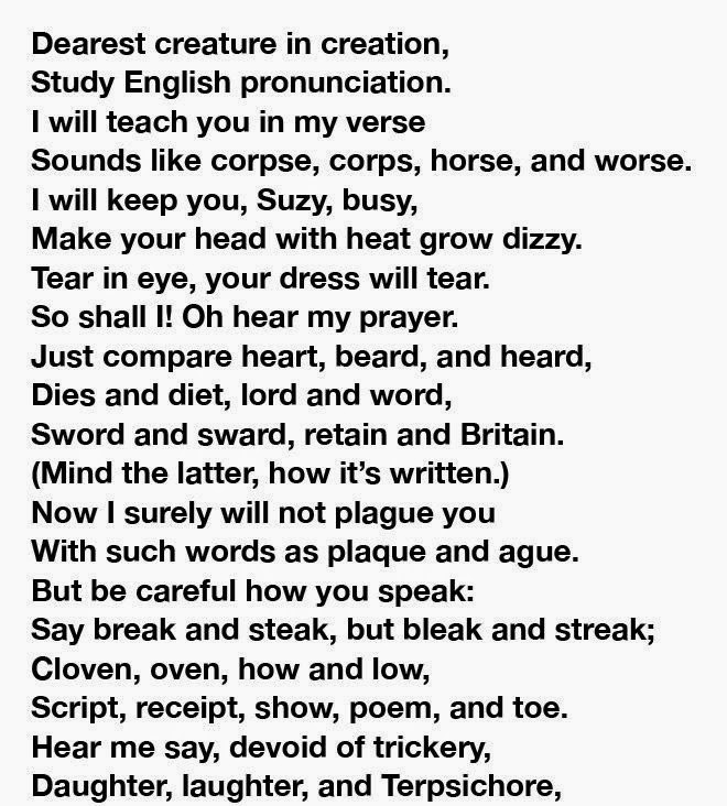 Of People Cant Pronounce This Whole Poem Can You Pics - Impossible poem