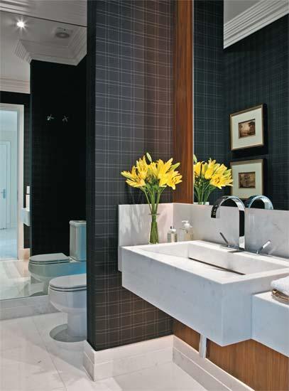 decoracao em lavabos: em alta as molduras vitorianas sao lindas e nao precisam ser