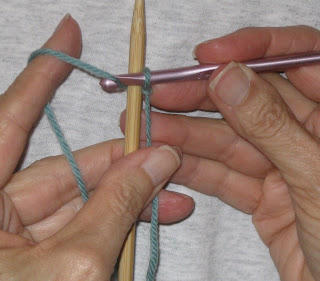 How To Cast On Stitches For Knitting With A Crochet Hook : Kiwi Knits: A Picture Tutorial for Chain Cast On
