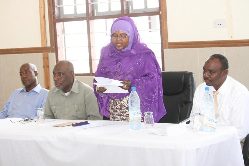 Elimu na Mafunzo ya Amali Zanzibar Zahra Ali Hamad, akizinduwa Bodi ya