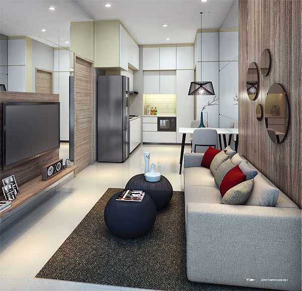 Loft 33 @ Geylang Living Room