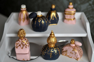 Mini perfume bottle cakes