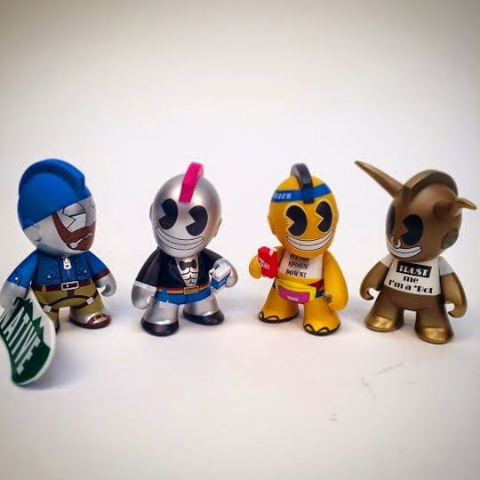 Commemorative City 'Bot Series Vinyl Figures by Kidrobot - Boulder, San Francisco, Los Angeles & New York