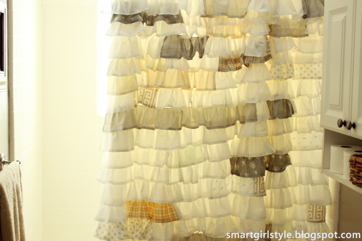 smartgirlstyle: A Ruffle Shower Curtain & Its Awesomeness