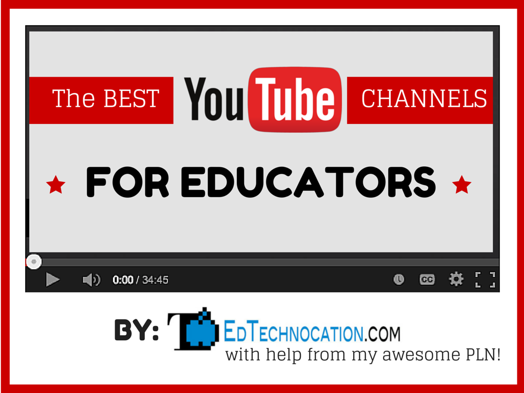 EdTechnocation: A Curated List of the Best Youtube Channels for ...