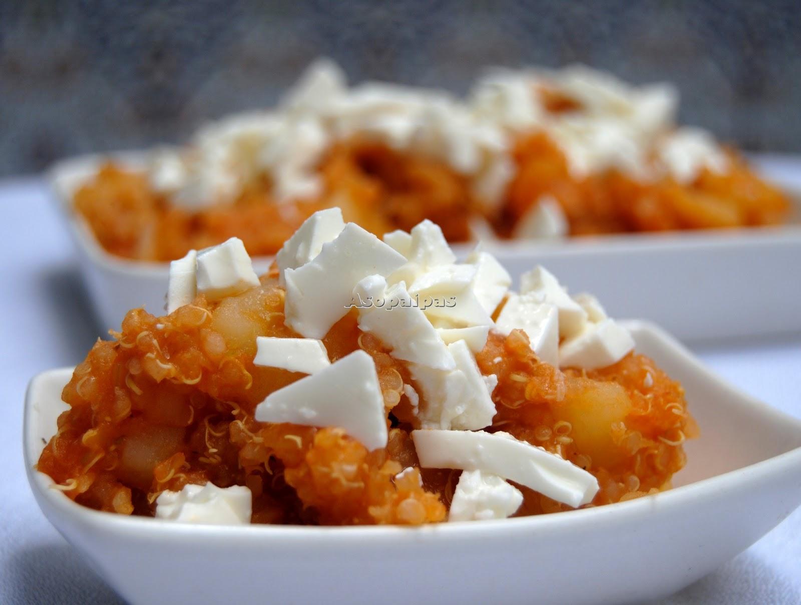 Quinoa Con Queso (Quinoa and Cheese) - Recetas de cocina