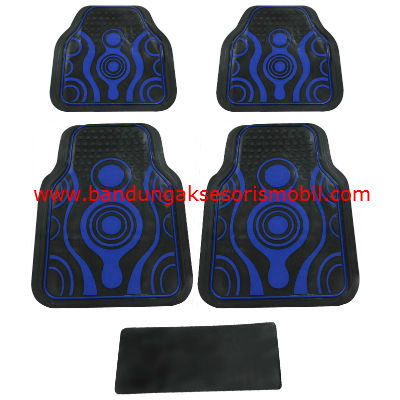 Karpet Abstrak Biru Japan
