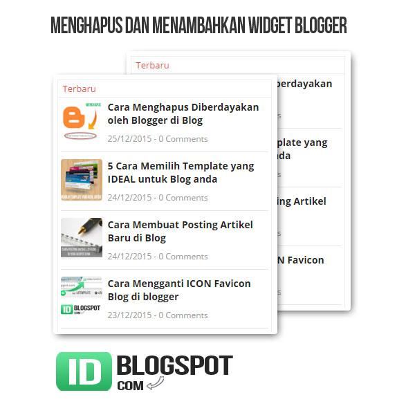 cara memasang dan menghapus widget di blog