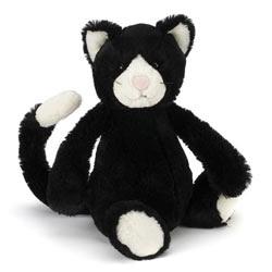 Jellycat Bashful Black and White Kitten