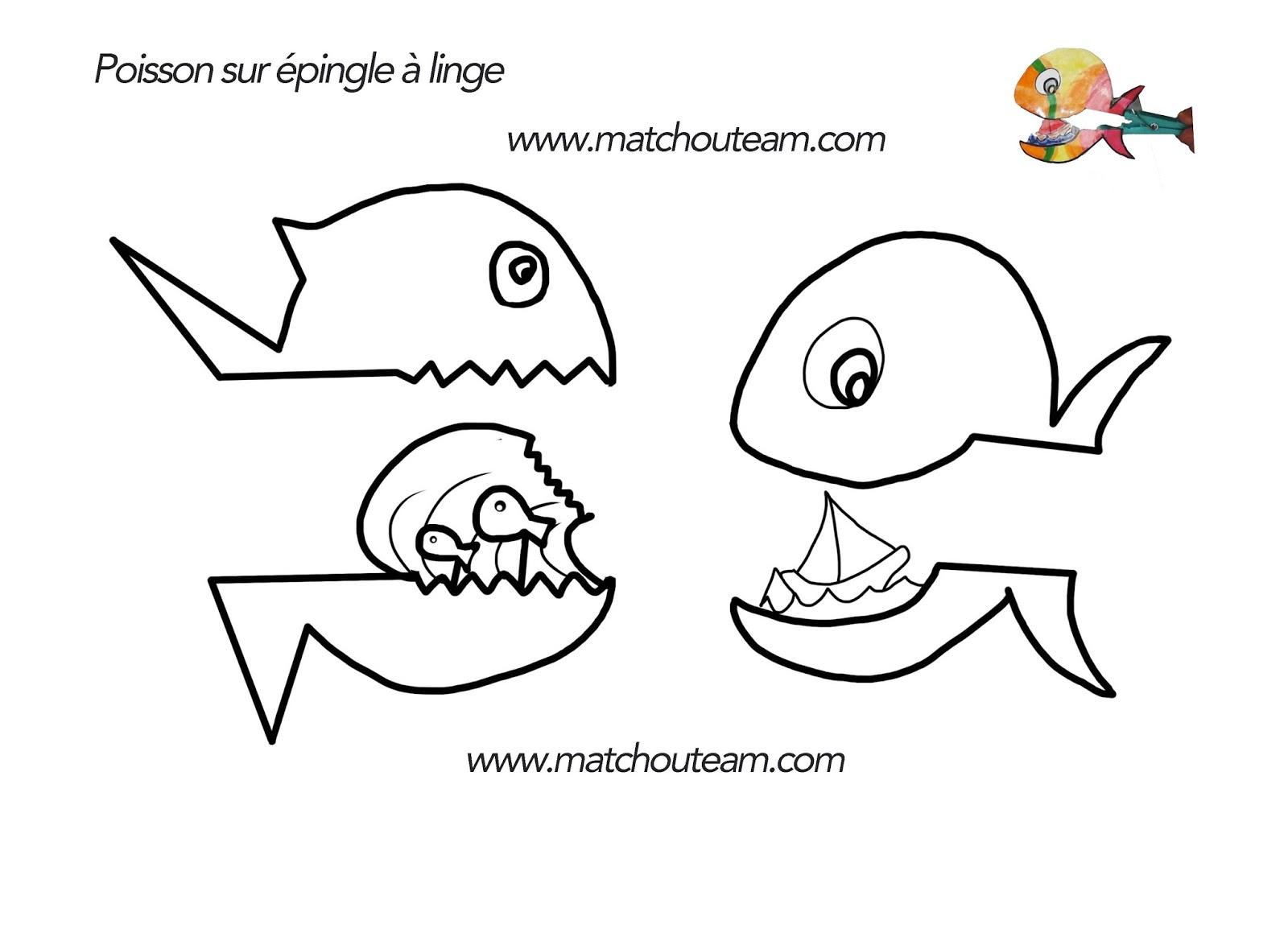 poisson sur pince à linge