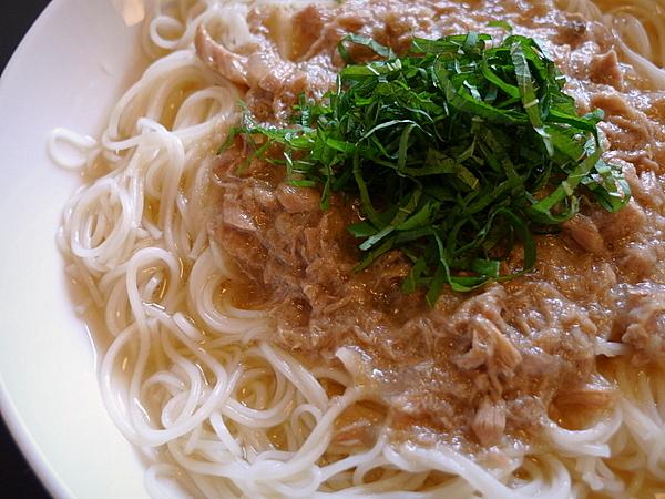 ツナ缶あんかけ素麺