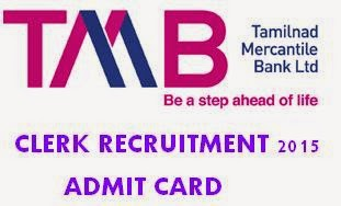 TMB Clerk Recruitment 2015 Hall Ticket Admit Card