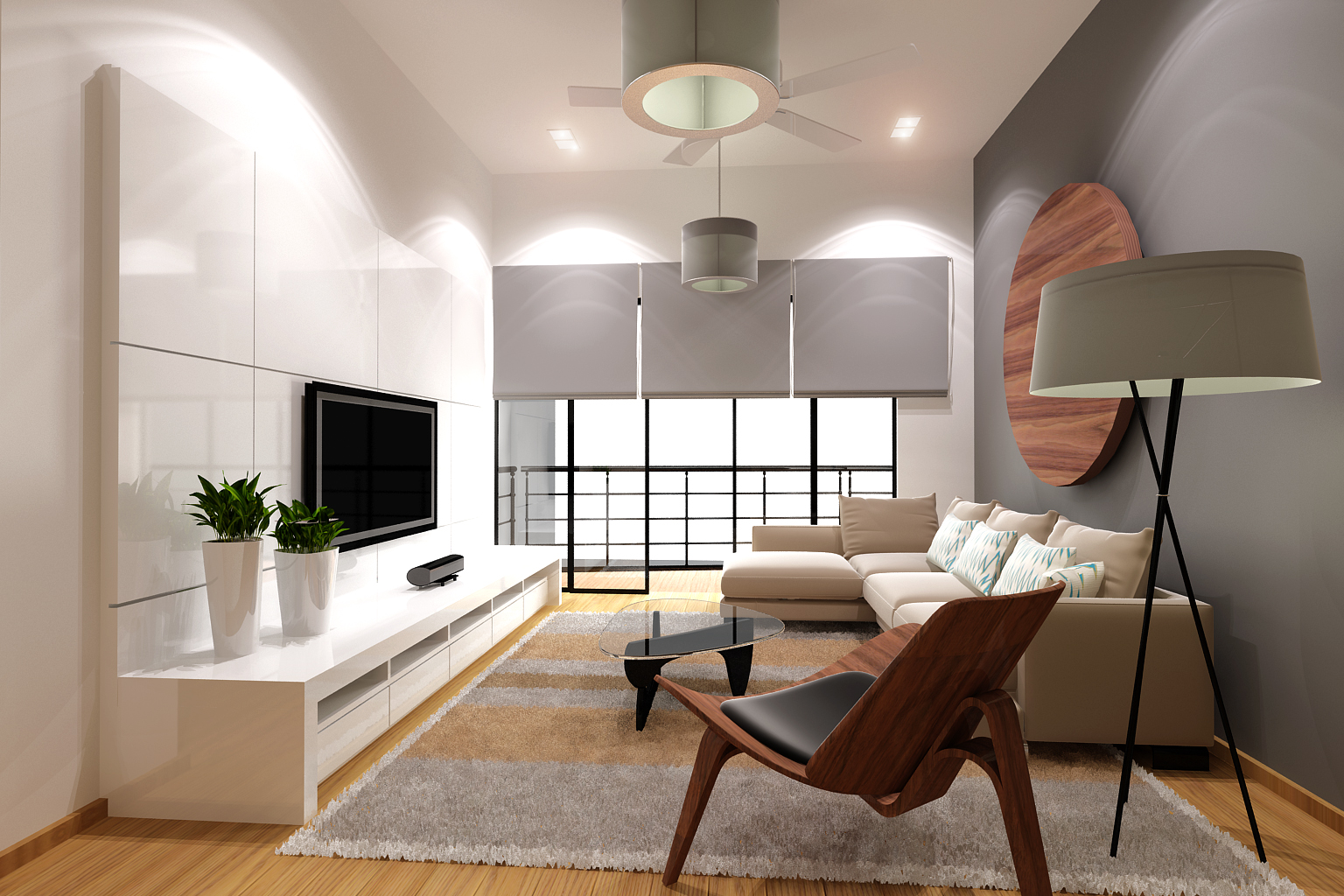 Zen Style Interior Design Living Room 1536 x 1024