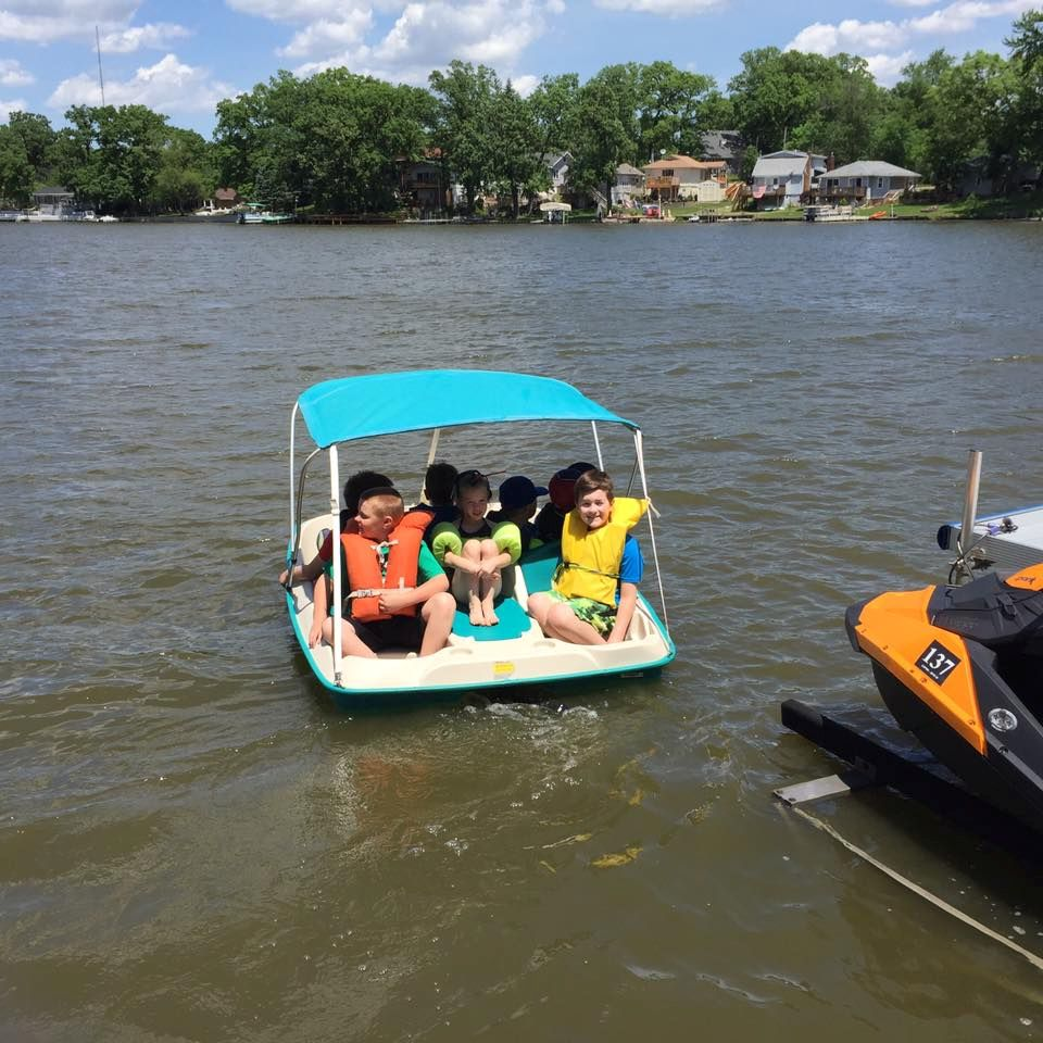 The Kids Going for a Paddle Boat Cruise