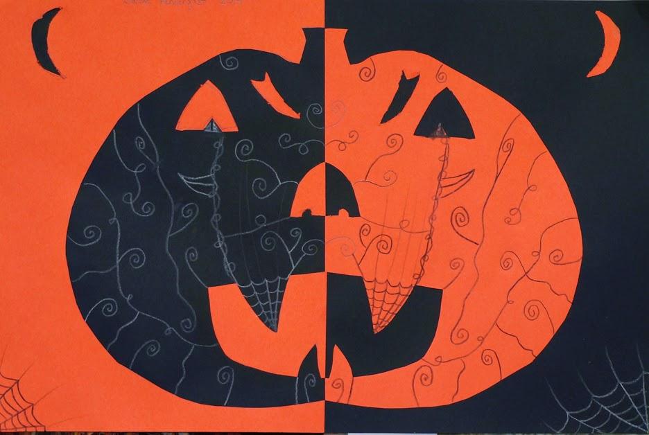 Symetrical Designs mr. o's art room: 4th grade symmetrical jack-o-lanterns