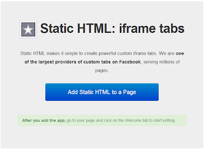 Add Static HTML to a Page