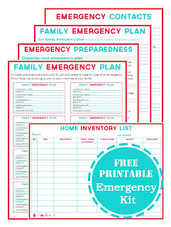 evacuation label template - just sweet and simple emergency binder free printables