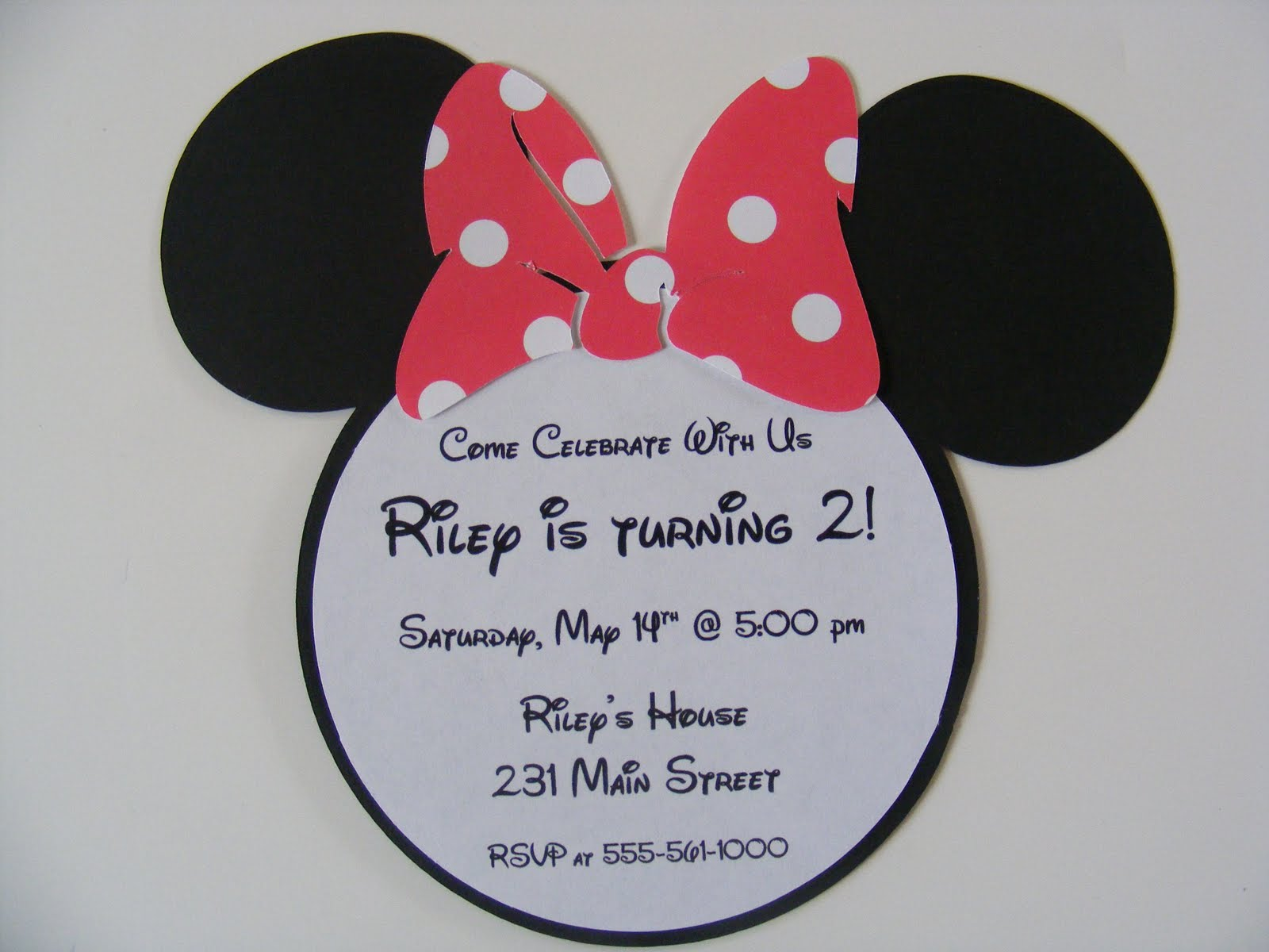 Minnie Mouse Photo Birthday Invitations and get inspiration to create nice invitation ideas