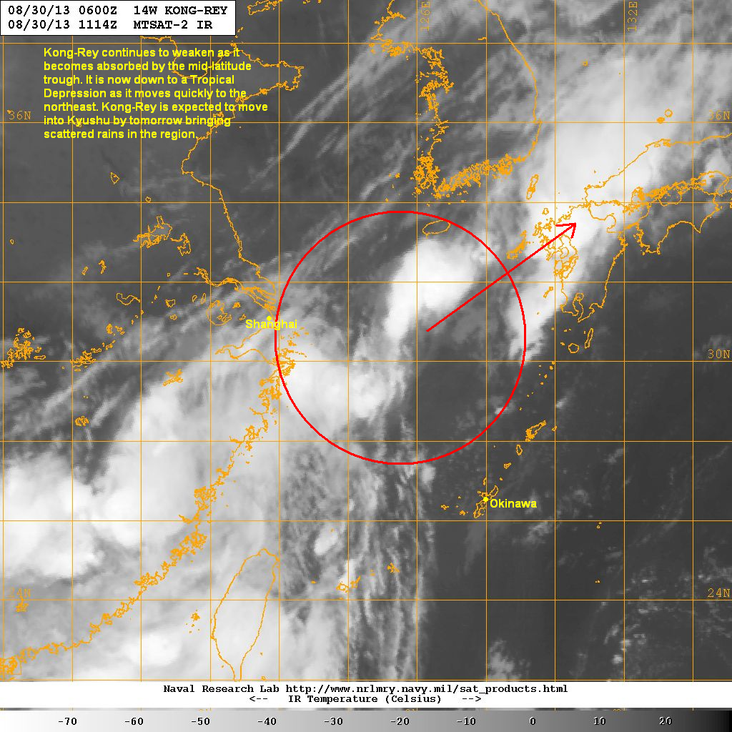 latest satellite image shows some convection forming near the low level center a mid latitude trough is currently moving into eastern asia and will begin