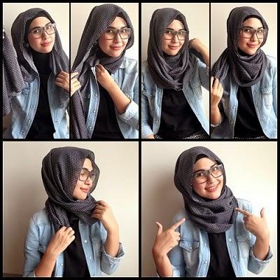 Memakai Hijab yang Nyaman saat Berkacamata