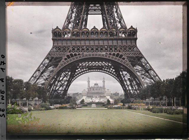 the eiffel tower and trocadero, 1912