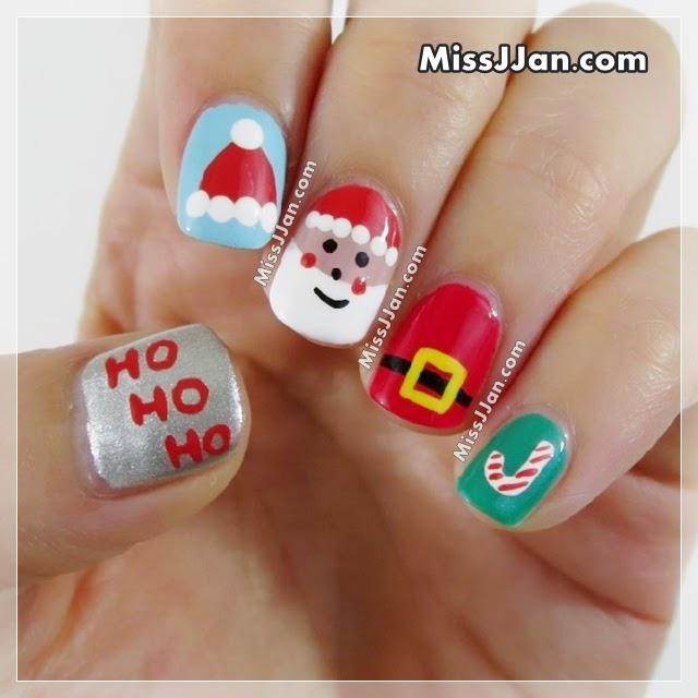 Cute Christmas Nail Art: MissJJan's Beauty Blog ♥: Santa Claus Nail Art 5 Cute