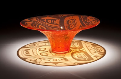 Preston Singletary - Bonfire 2011 (blown and sandcarved glass)