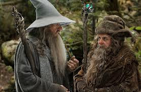 Gandalf the Grey (Ian McKellen) meets Radagast the Brown, a wizard who lives in Greenwood, directed by Peter Jackson