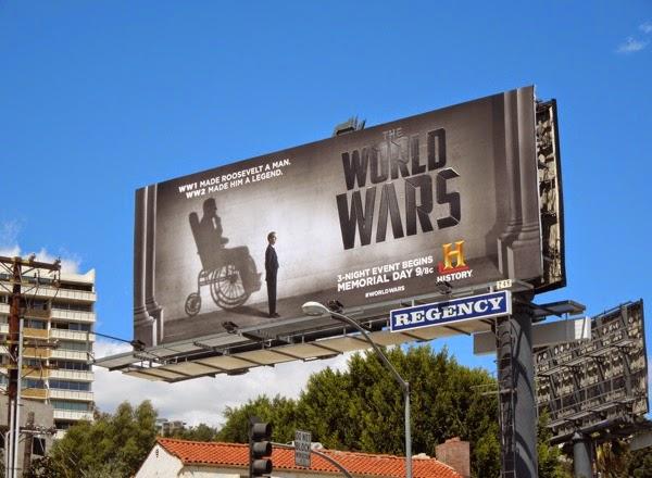 Roosevelt The World Wars History billboard