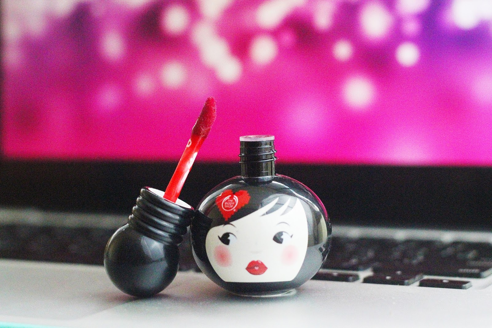 The body shop new lip and cheek geisha doll
