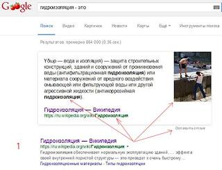 Google показывает определения в Интернете