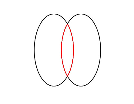 Moonflygirl bail template for pendants using a graphics programme draw an oval shape and duplicate it overlap the ovals you will be after the shape in the middle here in red pronofoot35fo Images