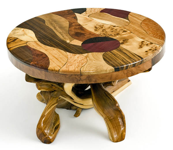 Redwood Tree Coffee Table: C Style+Design: Earth Month // Rustic Home Decor