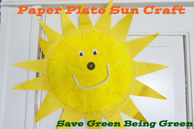 Try It Tuesday Paper Plate Sun Craft  sc 1 st  Save Green Being Green - Blogger & Save Green Being Green: Try It Tuesday: Paper Plate Sun Craft