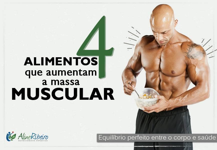 Alimentos que aumentam a massa muscular