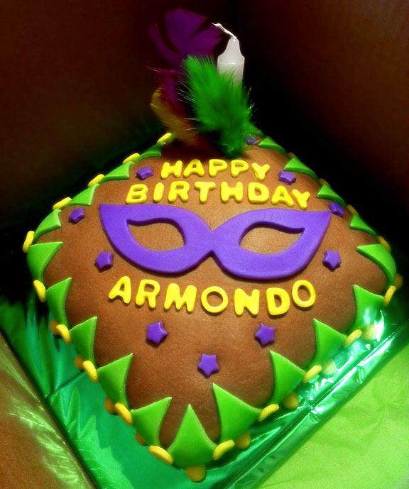 Mardi Gras Theme Birthday Cake Bakery Creations By Jessica