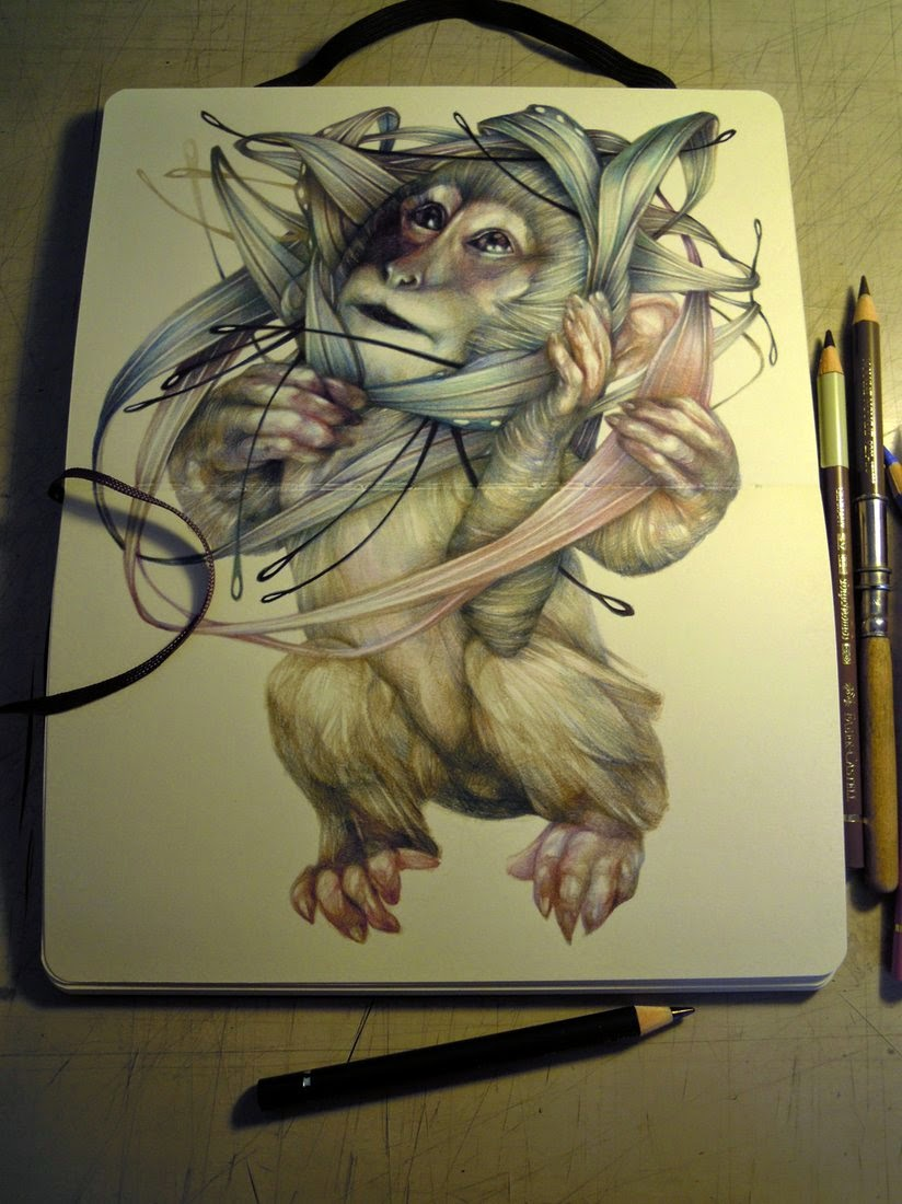 05-Marco-Mazzoni-Surreal-Animal-Drawings-www-designstack-co