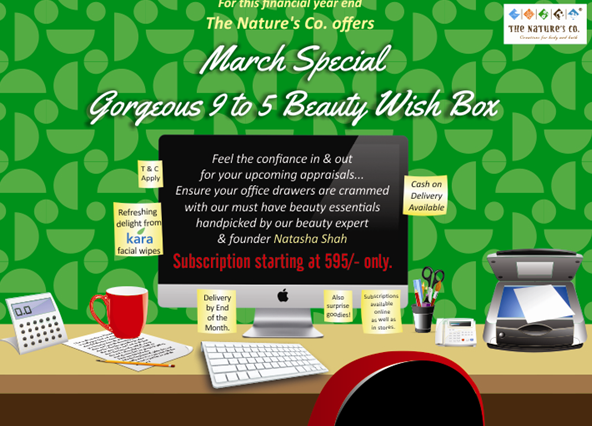 The Nature's Co March Beauty Wish Box