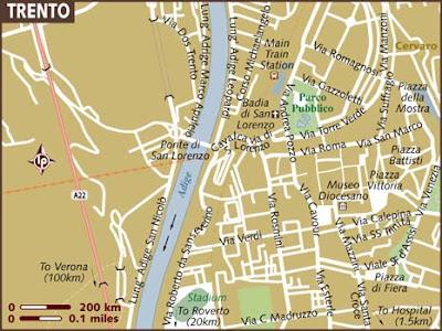 Mappa di Trentino Alto