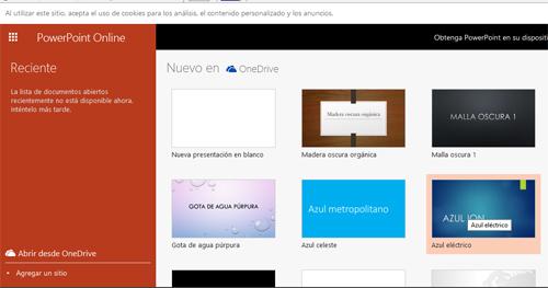 Crear una presentación de PowerPoint en Hotmail