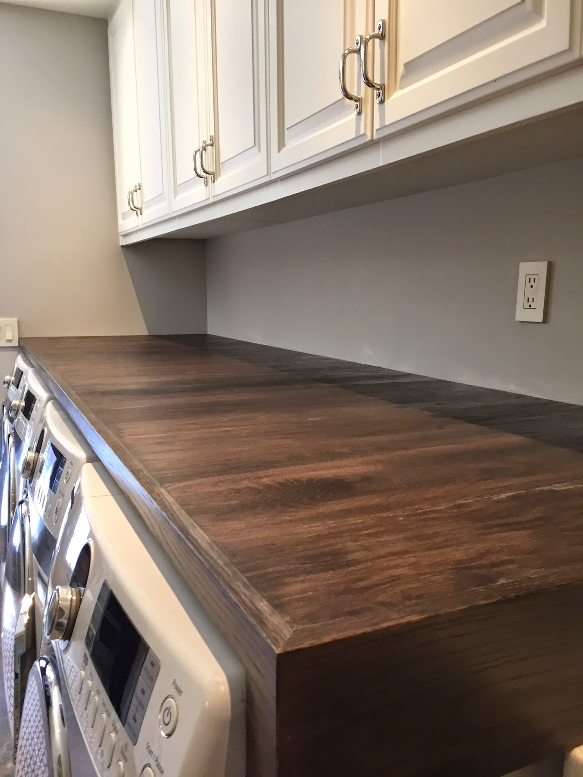 From Gardners 2 Bergers: Weatherwood Stained Laundry Room Oak Table .